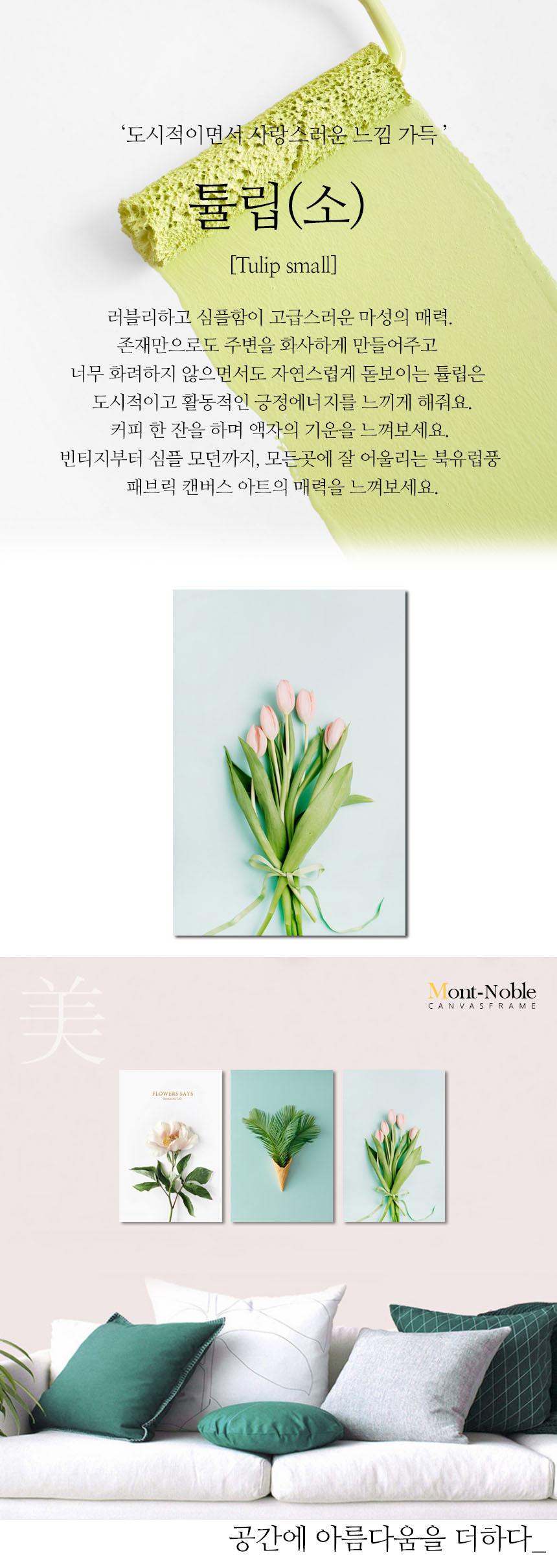 튤립(소) 북유럽 캔버스 그림 인테리어 거실 식물 액자 - 몽트노블, 11,280원, 액자, 벽걸이액자